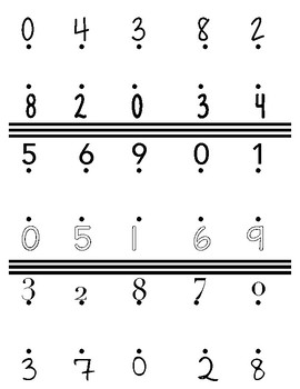 Matching 0 to 9 Numbers
