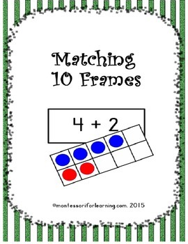 Matching 10 Frames: Common Core Aligned