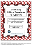 Matching 2-Step Equations to Answers