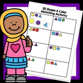 Matching 2D shapes, color and order activity