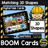 Matching 3D Shapes BOOM Cards:  Construction Theme