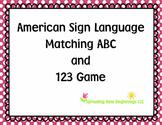 ASL ~Matching ABC & 123 Game using American Sign Language