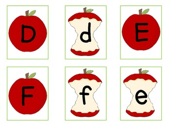 Matching ABC Apples