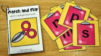 Matching Activities:  Back to School Match and Flip Books