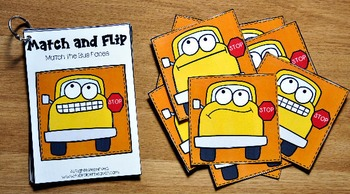 Matching Activities:  Back to School Match and Flip Books II