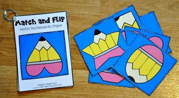 Matching Activities:  Back to School Match and Flip Books III
