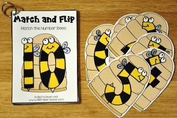Matching Activities:  Bugs and Critters Match and Flip Books