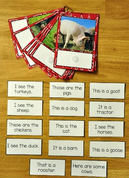 Matching Activities:  Farm Match and Flip Books and Matching Mats