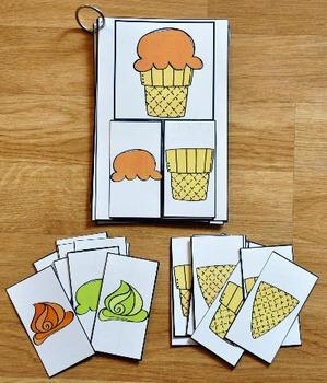 Matching Activities:  Ice Cream Match and Flip Activities