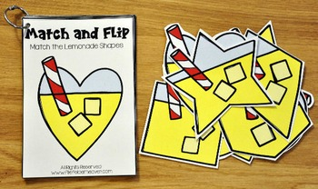 Matching Activities:  Lemonade Match and Flip Books
