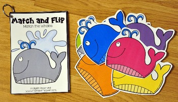Matching Activities: Ocean Themed Match and Flip Books