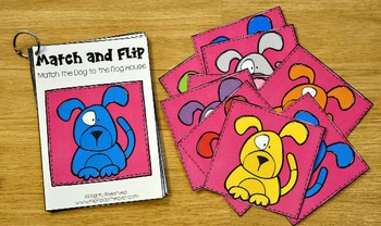 Matching Activities:  Pets Match and Flip Books