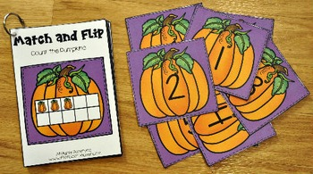 Matching Activities: Pumpkins Match and Flip Books