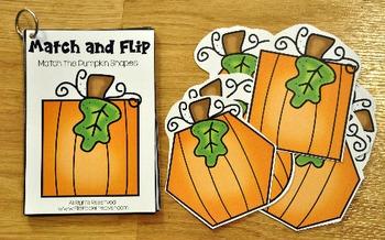 Matching Activities: Pumpkins Match and Flip Books