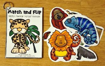 Matching Activities:  Rain Forest Match and Flip Books