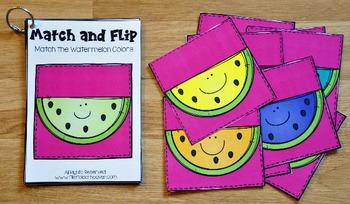 Matching Activities:  Watermelon Match and Flip Books