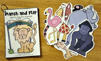 Matching Activities:  Zoo  Match and Flip Books
