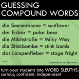 Matching Activity - Compound Cognates in German - First Week