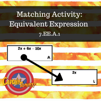 Matching Activity- Equivalent Expressions