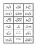 Matching Activity: Simplified Square Roots