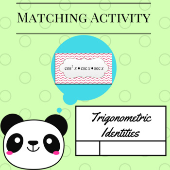 Matching Activity:  Trigonometric Identities