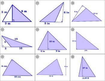 Area of Triangles~Pythagorean's Theorem~Geometry