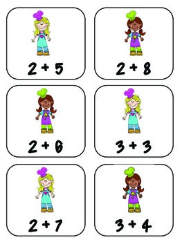 Matching - Addition up to 10 - 25 facts
