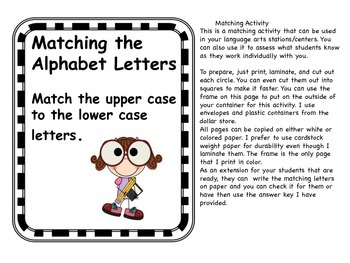 Matching Alphabet Letters