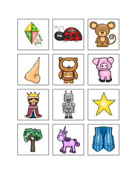 Matching Alphabet Picture Flashcards