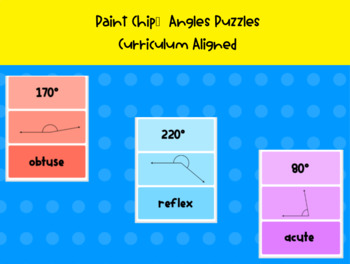 Matching Angles - Paint Chip Puzzles