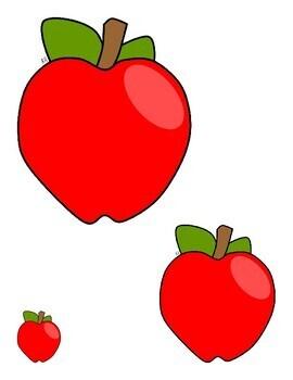 Matching Apple Sizes--File Folder Game