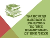 Matching Author's Purpose to Structure of Text