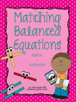 Matching Balanced Equations