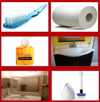Matching Bathroom Items