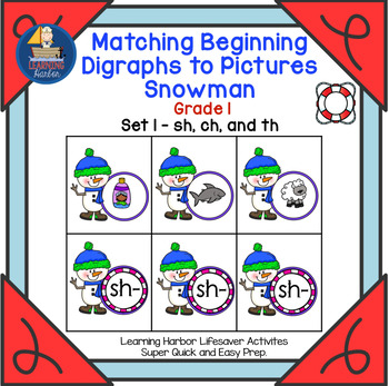 Matching Beginning Digraphs to Pictures   Snowman Grade 1