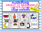 Matching Beginning Letter Sound Clip Cards - BUNDLE (Jolly