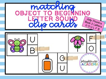 Matching Beginning Letter Sound Clip Cards (Jolly Phonics Book 3)