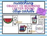 Matching Beginning Letter Sound Clip Cards (Jolly Phonics