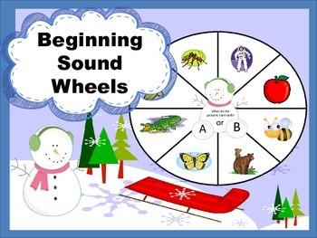 Matching Beginning Sound to Letter Winter Wheels