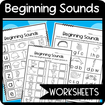 Matching Beginning Sounds/ Upper and Lower Case Letters