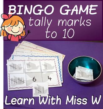 Math Game: Tally Marks to 10 bingo