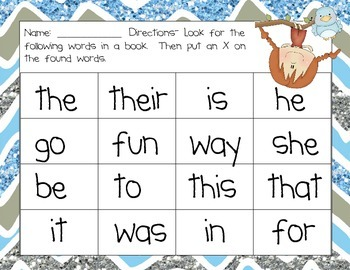 Matching Book Words