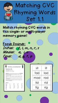 Matching CVC Rhyming Words 1.1