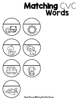 Matching CVC Words {Freebie}
