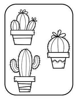 Matching Cacti File Folder Game