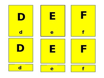 Matching Capital Letters to Lower Case Letters
