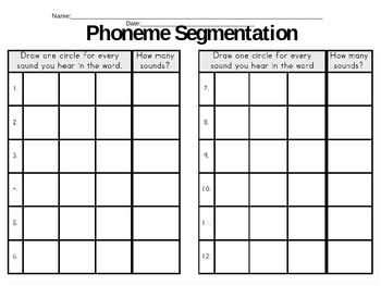 Phoneme Segmentation #1: Two and Three Phonemes
