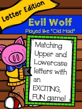 Evil Fox Game-Matching Capital & Lowercase Letters (Played like Old Maid)