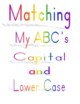 Matching Capital and Lower Case Letters