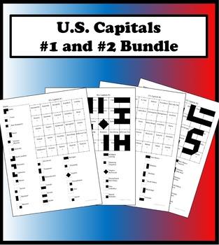 Matching Capitals Bundle Color Worksheet